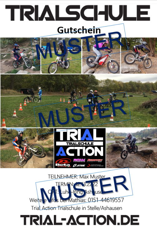 Trialschule Trialkurs Trial lernen Trail